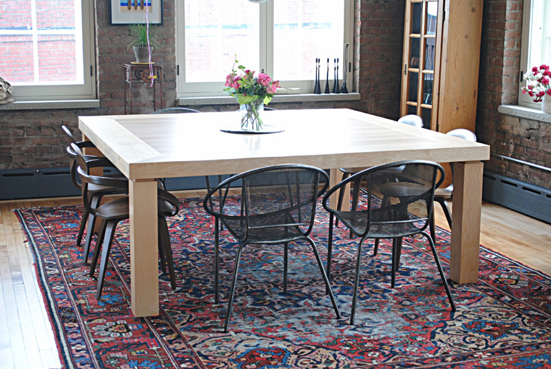 8 person maple dining table.  72