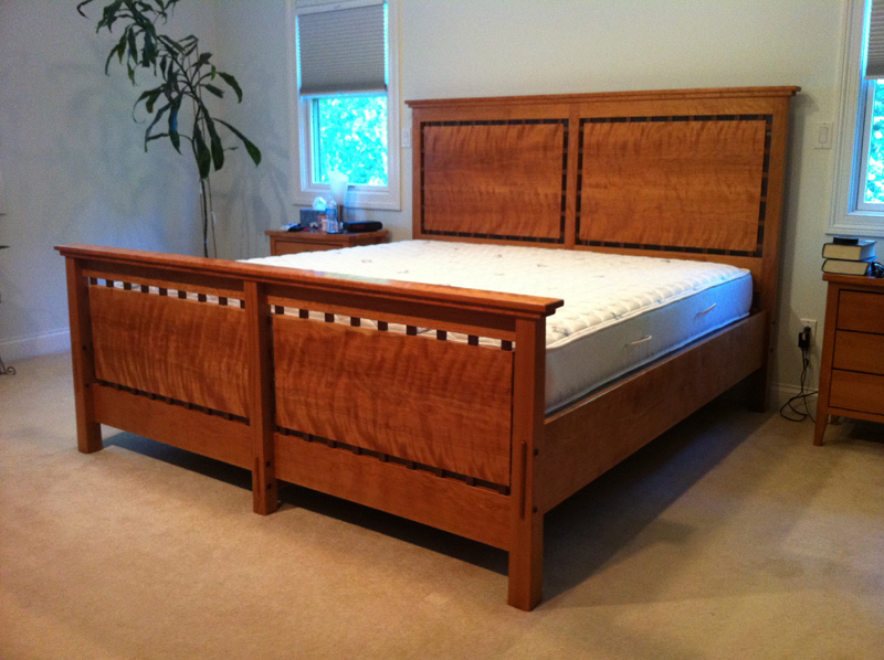 King sized bed in cherry