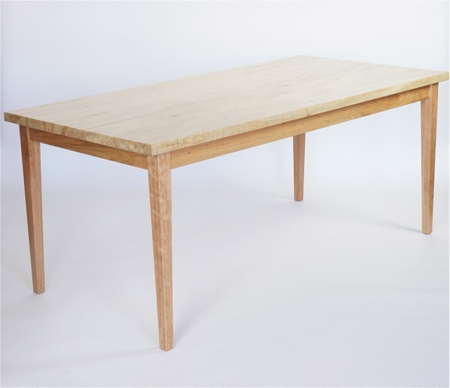 dining table in maple and cherry- 72