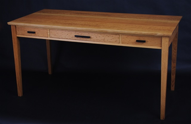 writing desk in wormy white oak- 65'x26'x30'